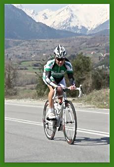 Ο έφορος του τμήματος ποδηλασίας αλλά και ποδηλάτης του συλλόγου, Γιώργος Φωκάς